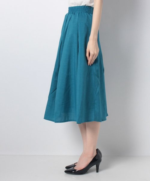 GeeRa(ジーラ)/麻調合繊鮮やかフレアースカート       /204637_img06