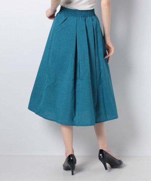 GeeRa(ジーラ)/麻調合繊鮮やかフレアースカート       /204637_img07