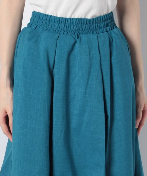 GeeRa(ジーラ)/麻調合繊鮮やかフレアースカート       /204637_img08