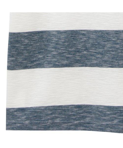 MAC HOUSE(men)(マックハウス(メンズ))/Navy オーガニックコットン スラブボーダーTシャツ MH/03520SS-1/01222006640_img20