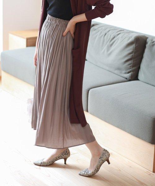 Bou Jeloud(ブージュルード)/【セットアップ対応商品】気流染めマットサテンスカート/593974_img02