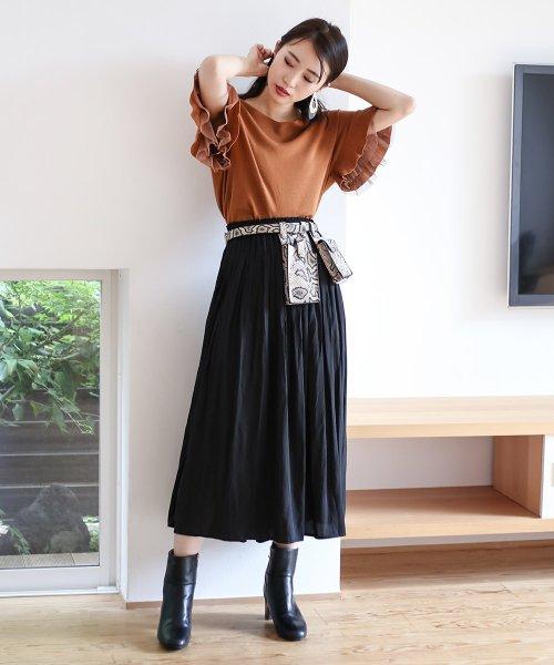 Bou Jeloud(ブージュルード)/【セットアップ対応商品】気流染めマットサテンスカート/593974_img10