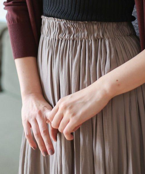 Bou Jeloud(ブージュルード)/【セットアップ対応商品】気流染めマットサテンスカート/593974_img13