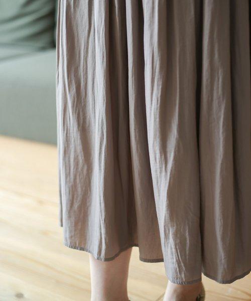Bou Jeloud(ブージュルード)/【セットアップ対応商品】気流染めマットサテンスカート/593974_img14