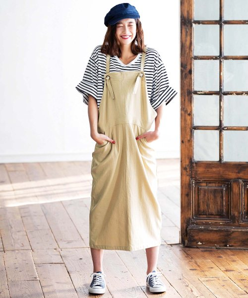 GeeRa(ジーラ)/綿100%サロペットスカート        /204438_img06