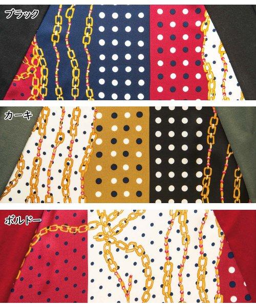 GeeRa(ジーラ)/スカーフ柄切替ワンピース          /204616_img06