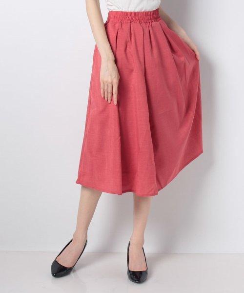 GeeRa(ジーラ)/麻調合繊鮮やかフレアースカート       /204637_img11