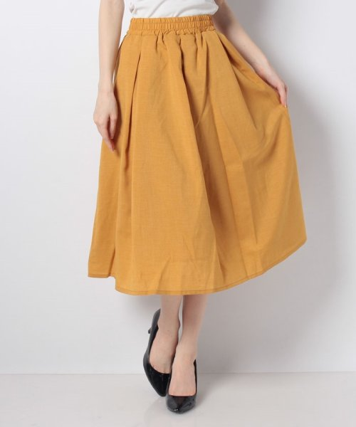 GeeRa(ジーラ)/麻調合繊鮮やかフレアースカート       /204637_img12