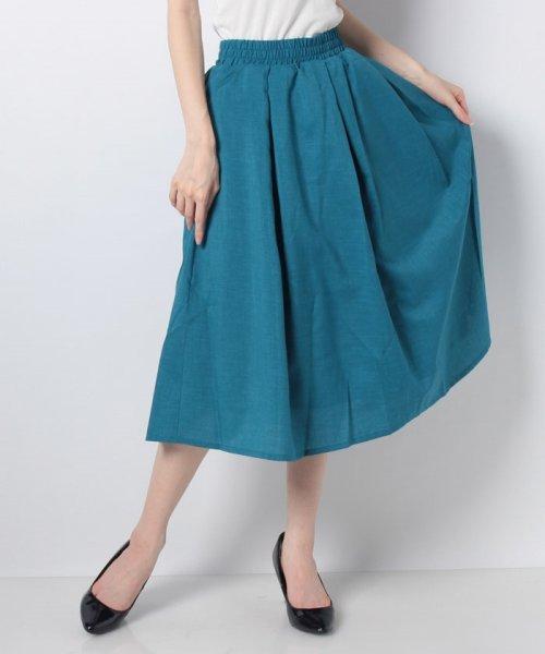 GeeRa(ジーラ)/麻調合繊鮮やかフレアースカート       /204637_img13