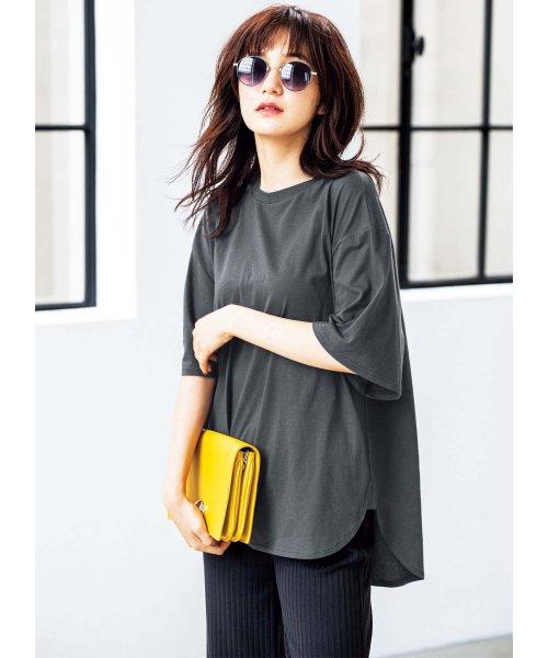 GeeRa(ジーラ)/綿100%ビッグシルエットTシャツ     /204403_img02