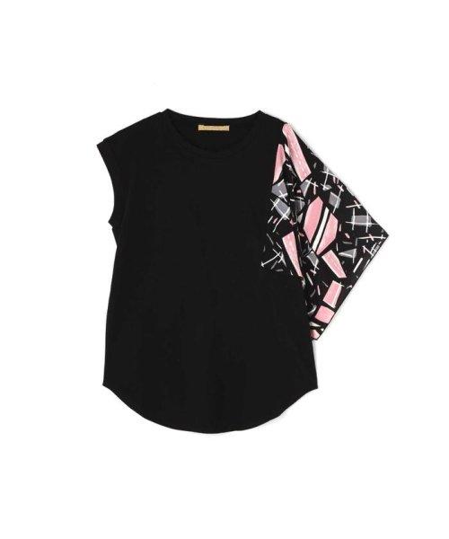 ROSE BUD(ローズバッド)/アシメトリースカーフプリント柄Tシャツ/6019213020_img09