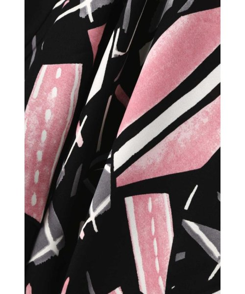 ROSE BUD(ローズバッド)/アシメトリースカーフプリント柄Tシャツ/6019213020_img10