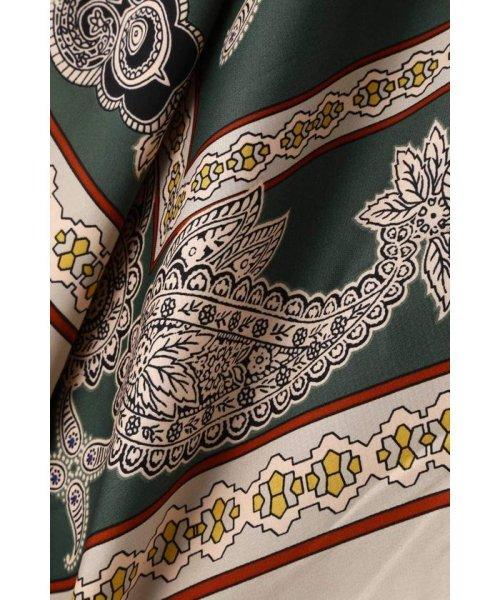 ROSE BUD(ローズバッド)/アシメトリースカーフプリント柄Tシャツ/6019213020_img14