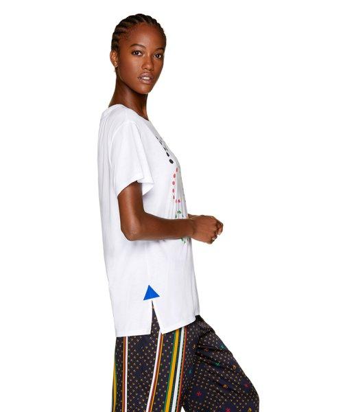 BENETTON (women)(ベネトン(レディース))/マルチカラーロゴサイドスリットポイントTシャツ・カットソー/19A3P1ZE15A0_img01