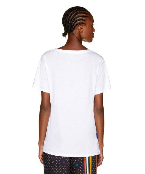 BENETTON (women)(ベネトン(レディース))/マルチカラーロゴサイドスリットポイントTシャツ・カットソー/19A3P1ZE15A0_img02