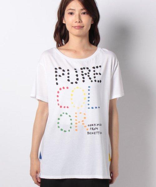 BENETTON (women)(ベネトン(レディース))/マルチカラーロゴサイドスリットポイントTシャツ・カットソー/19A3P1ZE15A0_img06