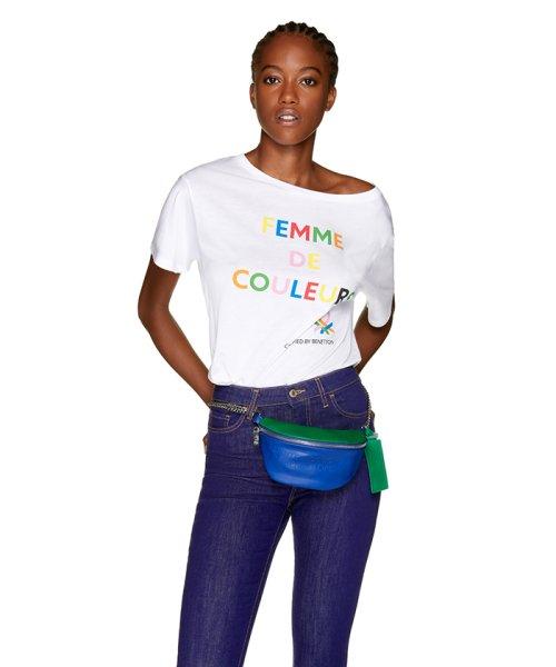 BENETTON (women)(ベネトン(レディース))/マルチカラーロゴサイドスリットポイントTシャツ・カットソー/19A3P1ZE15A0_img13