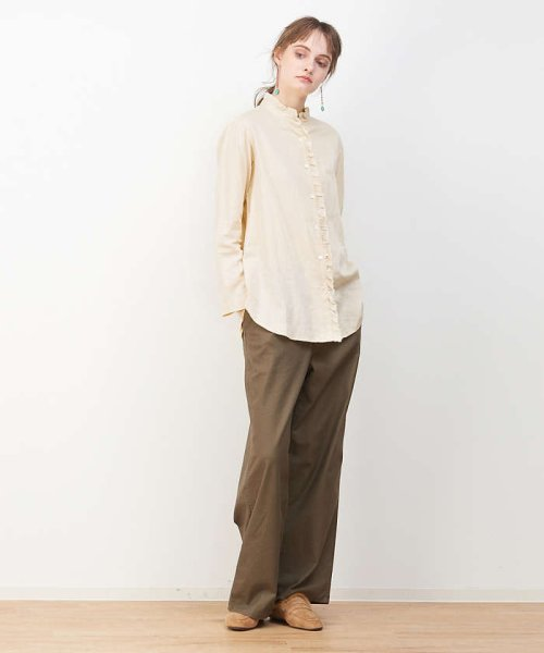 collex(collex)/綿サテンフリルシャツ【予約】/60390605004_img02