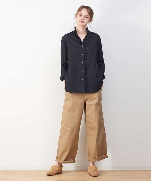 collex(collex)/綿サテンフリルシャツ【予約】/60390605004_img11