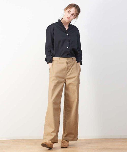 collex(collex)/綿サテンフリルシャツ【予約】/60390605004_img14