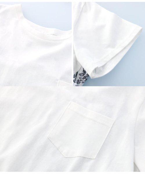 CHILLE(チル)/バックプリーツバンダナ柄Tシャツ/0534400064_img09