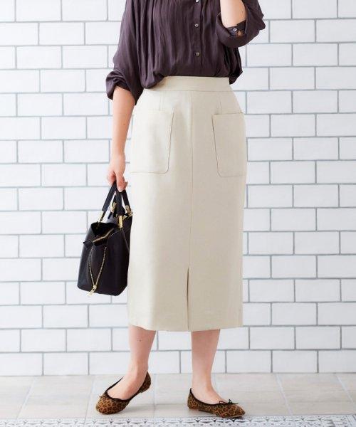 le.coeur blanc(ルクールブラン)/ポケットツキイージータイトスカート/3096044914_img14