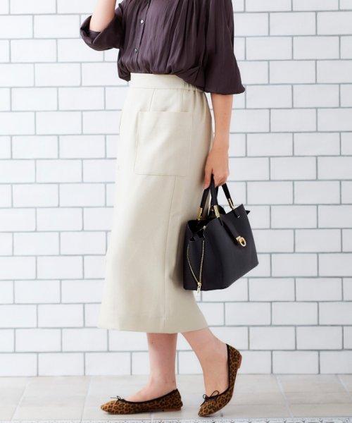 le.coeur blanc(ルクールブラン)/ポケットツキイージータイトスカート/3096044914_img16