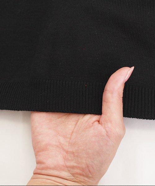 Amulet(アミュレット)/シンプルニットカーディガン レディース 無地 黒 ブラック グレー レッド トップス 伸縮性 春【vl-5149】/vl-5149_img26