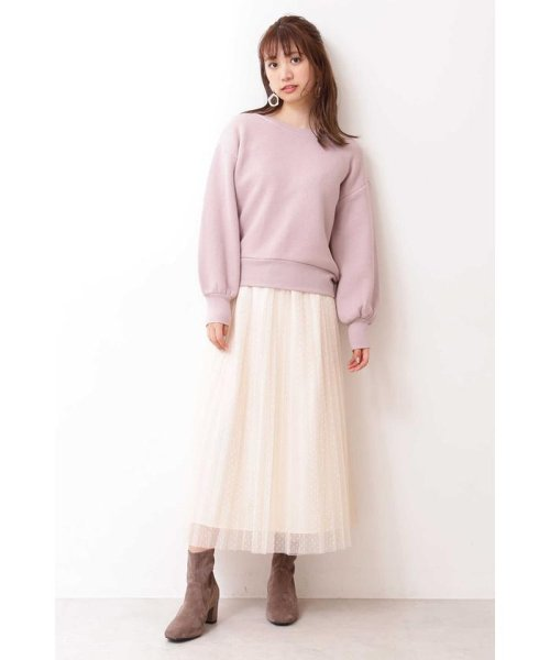 PROPORTION BODY DRESSING(プロポーション ボディドレッシング)/◆ドットチュールプリーツスカート/1219220802_img09