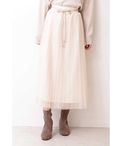 PROPORTION BODY DRESSING(プロポーション ボディドレッシング)/◆ドットチュールプリーツスカート/1219220802_img10