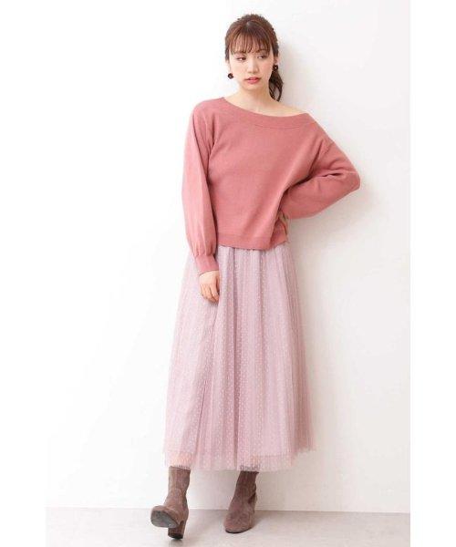 PROPORTION BODY DRESSING(プロポーション ボディドレッシング)/◆ドットチュールプリーツスカート/1219220802_img13