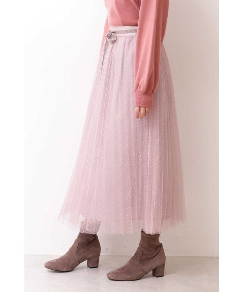 PROPORTION BODY DRESSING(プロポーション ボディドレッシング)/◆ドットチュールプリーツスカート/1219220802_img14