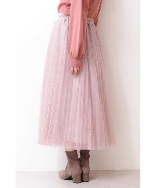 PROPORTION BODY DRESSING(プロポーション ボディドレッシング)/◆ドットチュールプリーツスカート/1219220802_img15