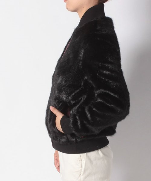 HUNTER(ハンター)/WOMENS REFINED FAUX FUR BOMBER/WRO1241WAX_img01