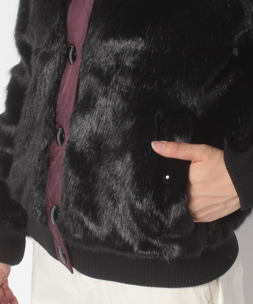 HUNTER(ハンター)/WOMENS REFINED FAUX FUR BOMBER/WRO1241WAX_img04