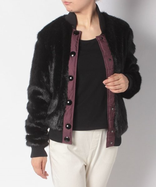 HUNTER(ハンター)/WOMENS REFINED FAUX FUR BOMBER/WRO1241WAX_img06