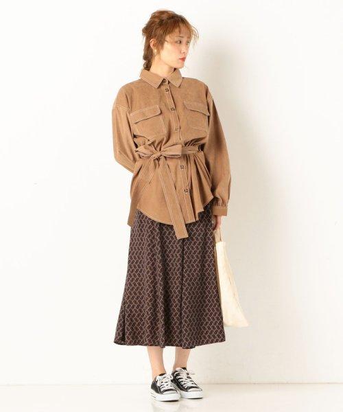 archives(アルシーヴ)/A-配色ステッチミリタリーシャツ/195162177002_img01