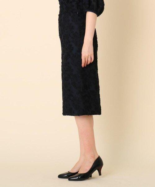 Couture Brooch(クチュールブローチ)/【WEB限定サイズ(LL)あり/手洗い可】カットジャガードミモレ丈スカート/20190250877006_img02
