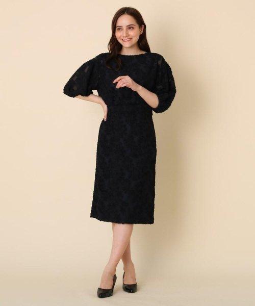 Couture Brooch(クチュールブローチ)/【WEB限定サイズ(LL)あり/手洗い可】カットジャガードミモレ丈スカート/20190250877006_img08