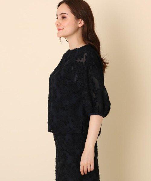 Couture Brooch(クチュールブローチ)/【WEB限定サイズ(LL)あり/手洗い可】カットジャガードブラウス/20190250887004_img02