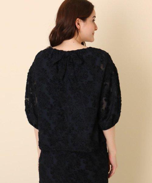 Couture Brooch(クチュールブローチ)/【WEB限定サイズ(LL)あり/手洗い可】カットジャガードブラウス/20190250887004_img03