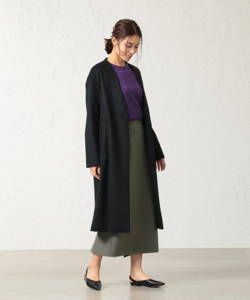 S.ESSENTIALS(エス エッセンシャルズ)/SUPER100'S ミルドパイルアクアジャージー ロングタイトスカート/P6S13255--_img02
