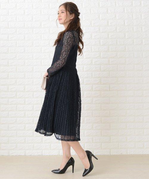 Lace Ladies(レースレディース)/刺繍レースギャザースカート長袖ワンピース・ドレス/PR106_img01