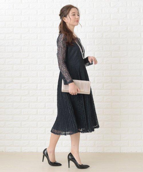Lace Ladies(レースレディース)/刺繍レースギャザースカート長袖ワンピース・ドレス/PR106_img02