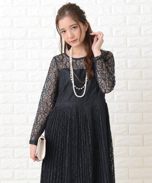 Lace Ladies(レースレディース)/刺繍レースギャザースカート長袖ワンピース・ドレス/PR106_img07