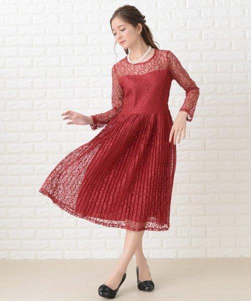 Lace Ladies(レースレディース)/刺繍レースギャザースカート長袖ワンピース・ドレス/PR106_img18