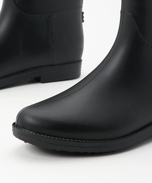 aimoha(aimoha(アイモハ))/バイカラーサイドリボン付きミドル丈レインブーツラバーブーツ レインシューズ ゴム長靴 雨靴 ガーデニングブーツ レディース レインブーツ /qx901a_img05