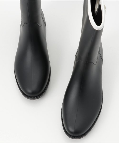 aimoha(aimoha(アイモハ))/バイカラーサイドリボン付きミドル丈レインブーツラバーブーツ レインシューズ ゴム長靴 雨靴 ガーデニングブーツ レディース レインブーツ /qx901a_img07