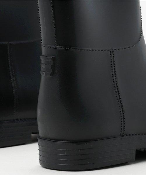 aimoha(aimoha(アイモハ))/バイカラーサイドリボン付きミドル丈レインブーツラバーブーツ レインシューズ ゴム長靴 雨靴 ガーデニングブーツ レディース レインブーツ /qx901a_img08