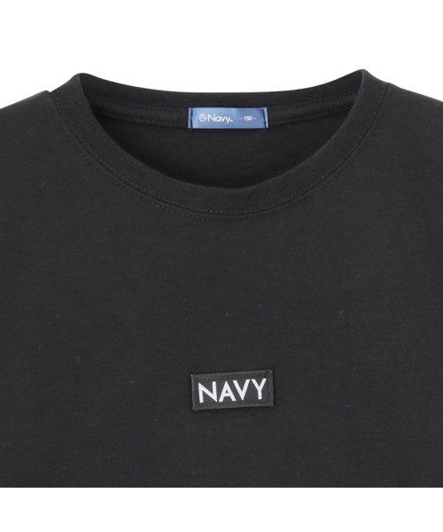 MAC HOUSE(kid's)(マックハウス(キッズ))/Navy ネイビー ボーイズ ボックスロゴロングスリーブTシャツ EJ195-KB104/03221001620_img01